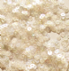 NEW Value Pack 50g 3mm Flat Round Sequins.  Silky Ivory